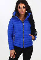 Pink Boutique Sweet Chic Blue Quilted Puffer Coat