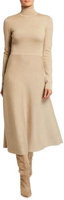 Gabriela Hearst Betti Double-Knit Cashmere/Silk Turtleneck Dress