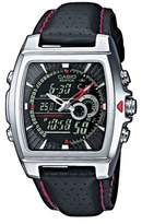 Edifice Men's Analogue/Digital Quartz Watch with Imitation Leather Strap – EFA-120L-1A1VEF