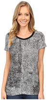 Calvin Klein Jeans Printed Short Sleeve Mixed Media Slub Tee