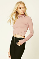 Forever 21 FOREVER 21+ Faux Wrap Crop Top