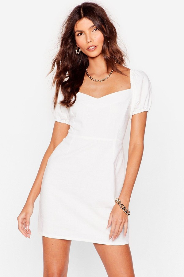 Thumbnail for your product : Nasty Gal Womens Lace Up Puff Sleeve Mini Dress