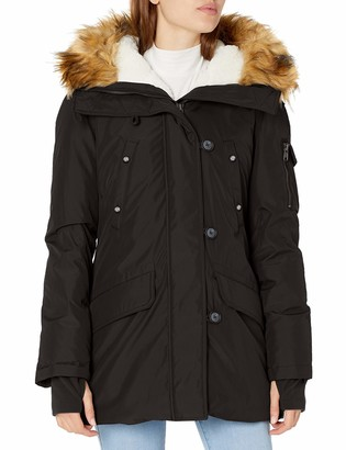 S13 Women's Alps Midlength Down Parka with Faux Fur Hood