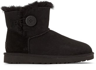 UGG Bailey Button II Fur-Lined Ankle Boots