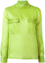 M Missoni buttoned shoulder sheer shirt