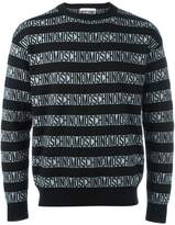 Moschino logo print sweater