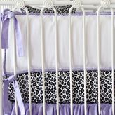 Caden Lane Girly Purple Leopard Crib Bumper