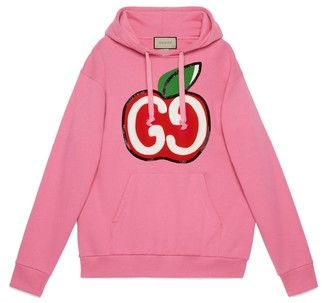 Gucci Hooded sweatshirt with GG apple print