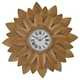 Lazy Susan 20 in. Gold Wall Clock