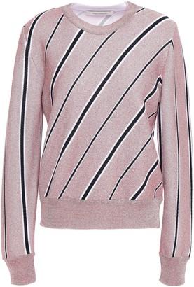 Cédric Charlier Metallic Striped Jacquard-knit Sweater