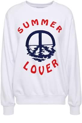Zoe Karssen Summer Lover Flocked French Cotton-blend Terry Sweatshirt