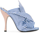 No.21 striped bow mules - women - Satin Ribbon - 36