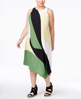 Alfani Plus Size Asymmetrical Midi Dress, Only at Macy's