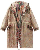 Thumbnail for your product : RIANNA + NINA Vintage Hooded Drawstring Floral-brocade Parka - Multi