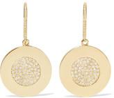 Jennifer Meyer 18-Karat Gold Diamond Circle Earrings