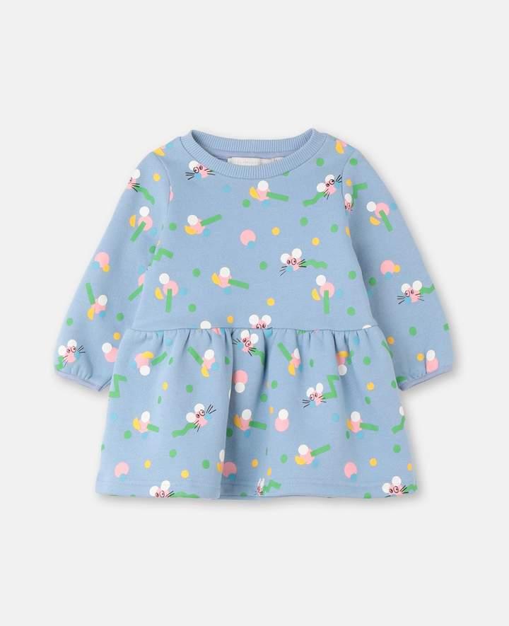 Stella McCartney Mice Wiggle Cotton Fleece Dress, Unisex