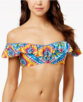 Jessica Simpson Surfside Tie-Dyed Off-The-Shoulder Bikini Top
