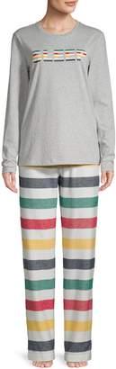 HBC Stripes Women's 2-Piece Multi Stripe Family Pyjama Set