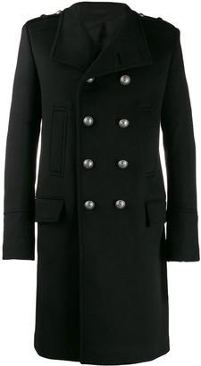 Balmain double-breasted military coat