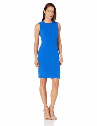 Calvin Klein Women's Petite Sleeveless Scuba Crepe Sheath Dress