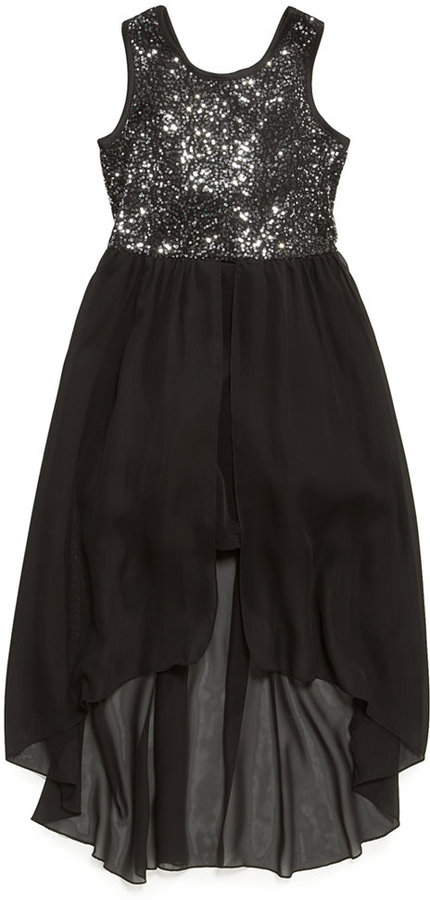 Ruby Rox Girls' Sequined High-Low Dress