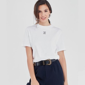 Maison Labiche Oversized Sorry Not Sorry Tee White - S