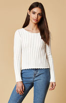 Honey Punch Ribbed Cropped Sweater Top