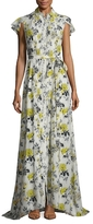 Carolina Herrera Silk Floral Printed Gown