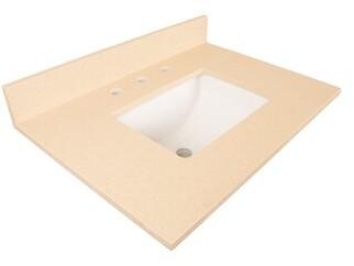 """BEIGE Counter 30"""" Single Bathroom Vanity Top Bellaterra Home Top Finish Quartz"""