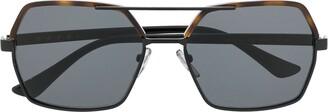 Marni Eyewear oversized aviator sunglasses