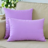 MochoHome Canvas Solid Rectangular Throw Pillow