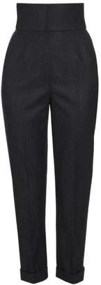 Dolce & Gabbana High-Waist Cuffed Hem Pants