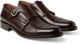O'keeffe - Bristol Cap-toe Polished-leather Monk-strap Shoes