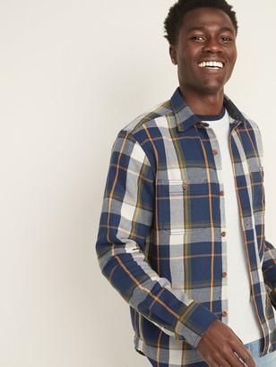 Old Navy Regular-Fit Plaid Pocket Shirt for Men