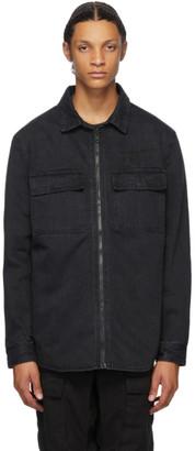 Ksubi Reversible Black Hoodrat Krow Shirt Jacket