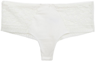 Wacoal Eternal Jersey-paneled Stretch-lace Mid-rise Briefs