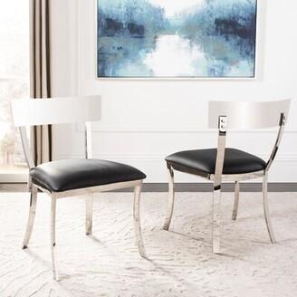 Willa Arlo Interiors Chromium Upholstered Side Chair Finish: Black