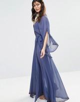The Jetset Diaries Las Perlas Chiffon Embellished Kimono Maxi Dress