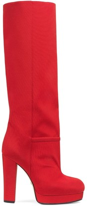 Gucci Ribbed Knee-High Boots
