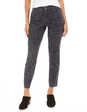 Style&Co. Style & Co Curvy-Fit Skinny Printed Jeans, Created for Macy's