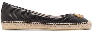 Gucci Pilar Chevron-quilted Leather Espadrilles - Black