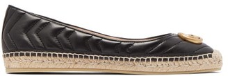 Gucci Pilar Chevron-quilted Leather Espadrilles - Womens - Black