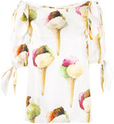 Dolce & Gabbana ice-cream print blouse