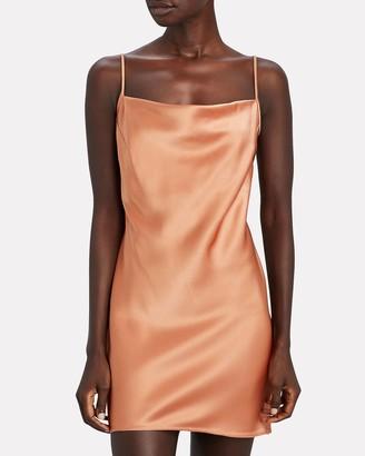 Nanushka Lotti Satin Mini Slip Dress
