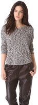 Vince Tweed Shirttail Sweater