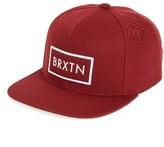Brixton Men's 'Rift' Snapback Cap - Red