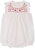 Petit Bateau Baby girls short poplin all-in-one