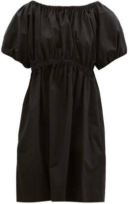 Molly Goddard Honey Puffed Cotton-scuba Dress - Black