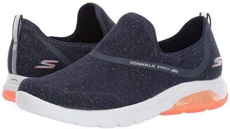 SKECHERS Performance Go Walk Air - 16097 (Navy/Coral) Women's Shoes