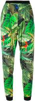 Max Mara tropical print cropped trousers - women - Polyester/Spandex/Elastane/Triacetate/Viscose - 42